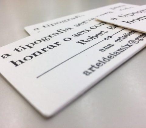 A impressão tipográfica e o uso de papéis especiais